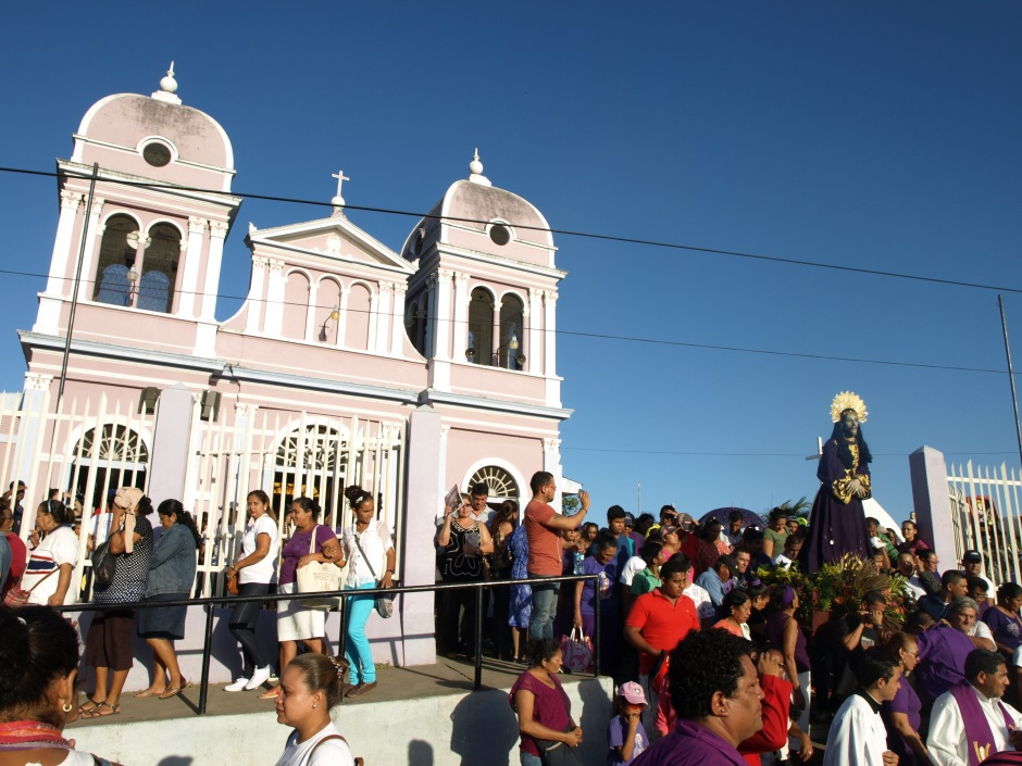 Salida de la imagen de Jesús del Rescate del santuario de Popoyuapa